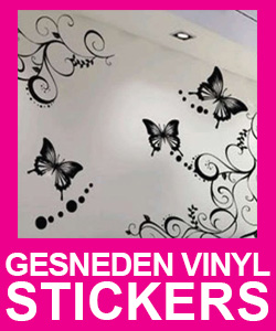 gesneden vinyl stickers plakletters. Black Bedroom Furniture Sets. Home Design Ideas