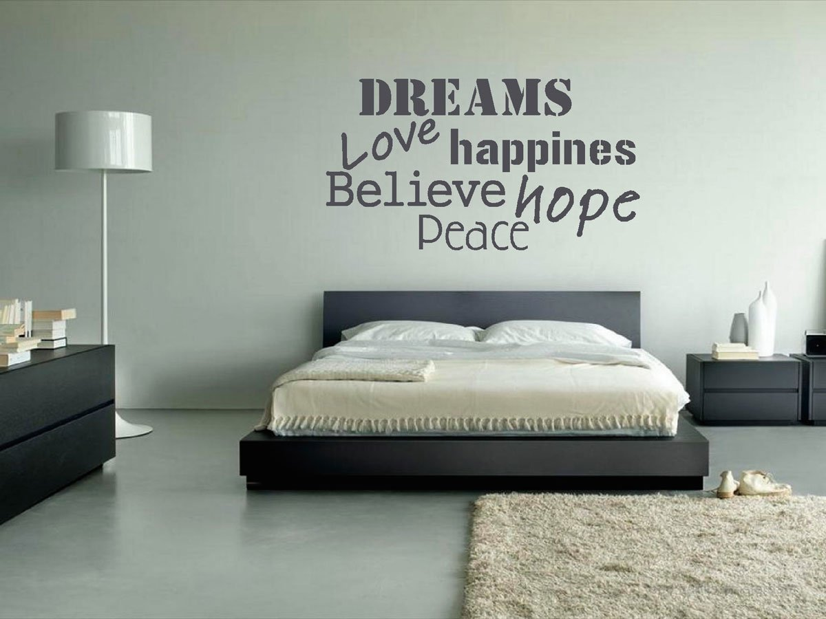 Quotes Voor Slaapkamer : Black and White Bedroom Decorating Ideas