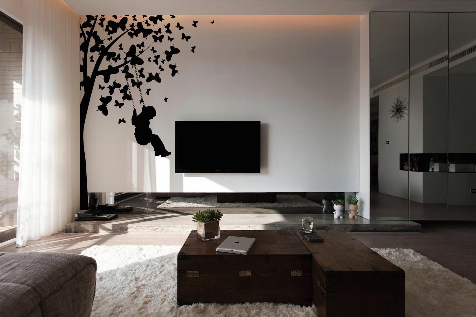 Muurstickers van Bomen voor in de woonkamer (Muurstickers gesneden)