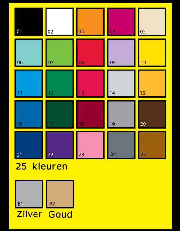 Kleuren plakfolie (vinyl)