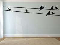 muursticker, boom, vogels