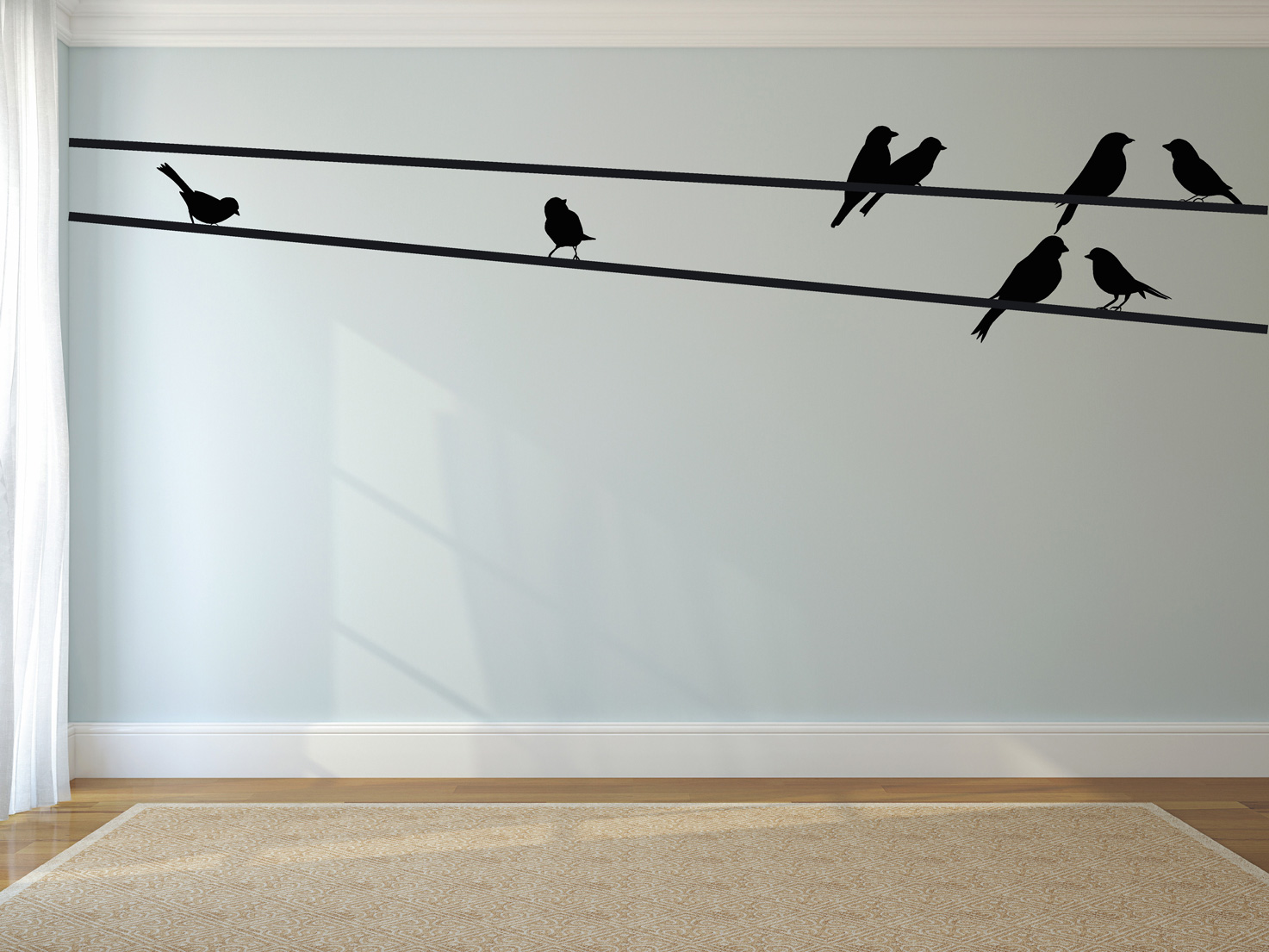 gesneden muursticker vogels 3 muurstickers 2 muurteksten huisstijl ...