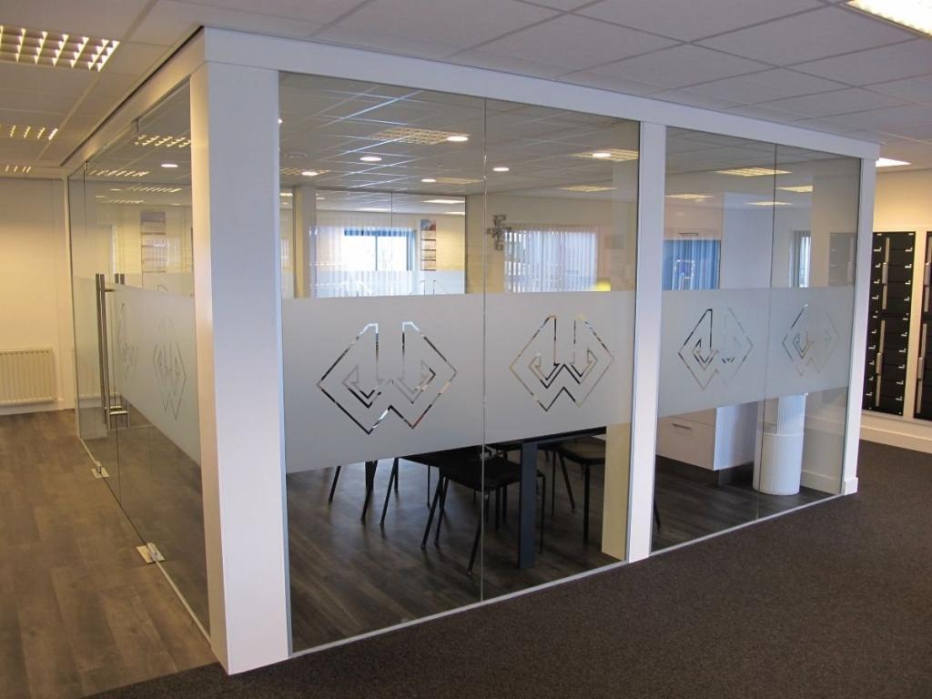 Plakhetzelf raamstickers muurstickers en stickers - Kantoor transparant glas ...