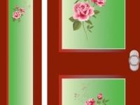 raamfolie, bedrukt, voordeur
