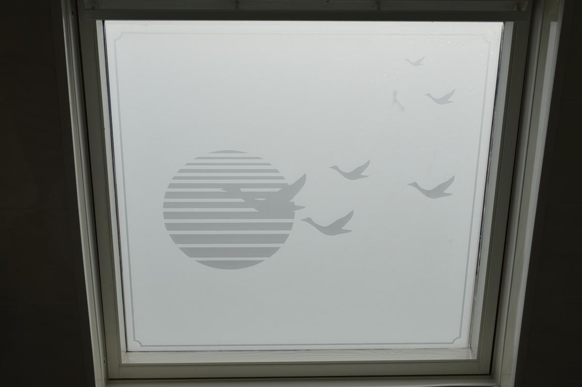 Raamfolie Voor Badkamer : Raamfolie badkamer binnen en buitenkant plakhetzelf